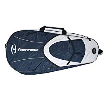 Harrow 6 racket bag white navy